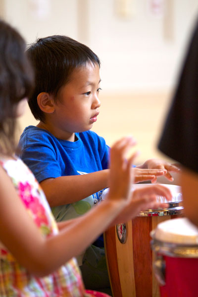 2 Rhythm kids drumming
